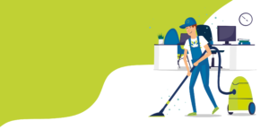 Illustration of staff cleaning